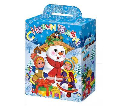 """Новогодняя упаковка 1100 г """"Веселый снеговик"""""""