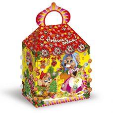 """Новогодняя упаковка из микрогофрокартона 1500 г """"Сырный домик"""""""