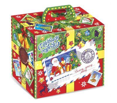 """Новогодняя упаковка 1500 г """"Посылка от Деда Мороза"""""""