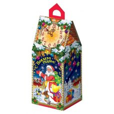 """Новогодняя упаковка  450 г """"Дед Мороз с часами"""""""