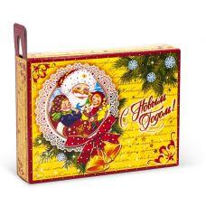 """Новогодняя упаковка 1000 г """"Новогоднее поздравление ретро"""""""