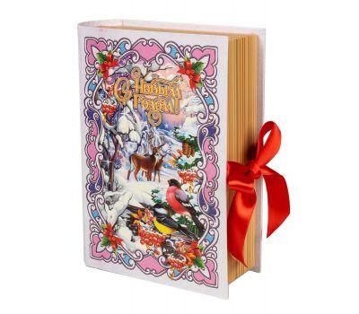 """Новогодняя упаковка  700 г """"Книга """"Зимний лес"""" малая"""""""