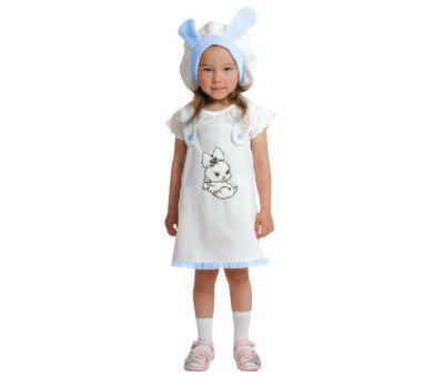 """Маскарадные костюмы для детей """"Зайка бело-голубая"""""""