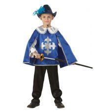 """Детские маскарадные костюмы """"Мушкетер"""" синий"""
