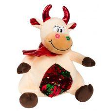 """Новогодняя упаковка  500 г """"Корова с пайетками"""""""