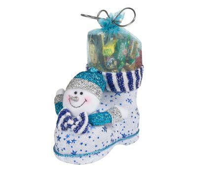 """Новогодняя упаковка  850 г """"Сапожок со снеговиком большой"""""""