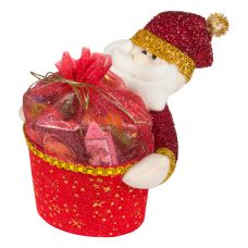 """Новогодний подарок  700 г """"Дед Мороз с подарком красный"""""""