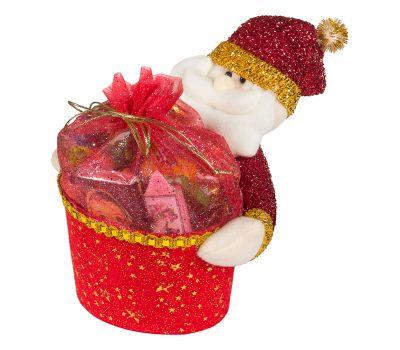 """Новогодняя упаковка  850 г """"Дед Мороз с подарком красный"""""""