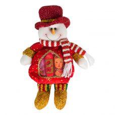 """Новогодний подарок  200 г """"Снеговик красный с сердечком"""""""