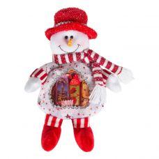 """Новогодняя упаковка  300 г """"Снеговик белый с сердечком"""""""
