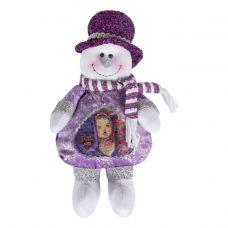 """Новогодний подарок  200 г """"Снеговик сиреневый с сердечком"""""""