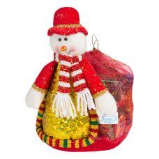 "Новогодний подарок  850 г ""Снеговик с мешком 10"""