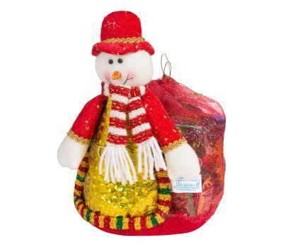 """Новогодняя упаковка 1000 г """"Снеговик с мешком 10"""""""