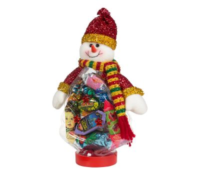 """Новогодняя упаковка  400 г """"Снеговик на банке (елка)"""""""