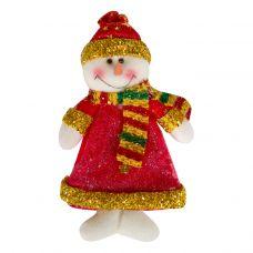 """Новогодняя упаковка   75 г """"Снеговик - подвеска красный"""""""