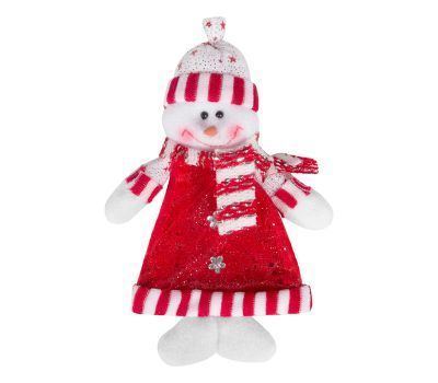 """Новогодняя упаковка   75 г """"Снеговик-подвеска в белой шапочке"""""""
