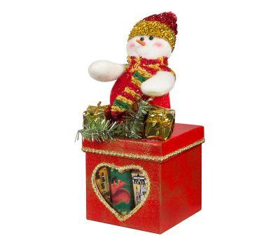 """Новогодняя упаковка  100 г """"Снеговик на коробке"""""""