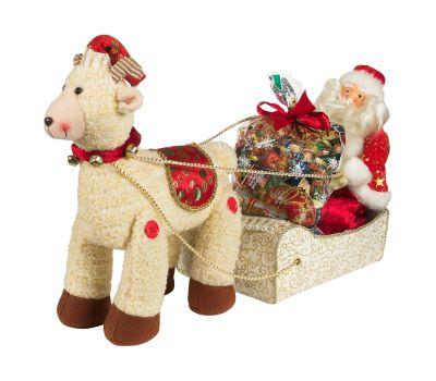 """Новогодняя упаковка  850 г """"Сани с Дедом Морозом"""""""