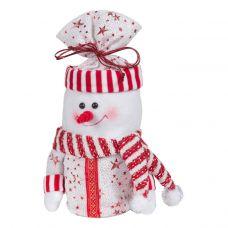 """Новогодняя упаковка  500 г """"Снеговик - мешок красно-белый"""""""