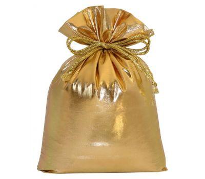 """Новогодняя упаковка 1000 г """"Мешочек из парчи золотистый"""""""