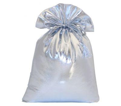 """Новогодняя упаковка 1000 г """"Мешочек из парчи серебристый"""""""