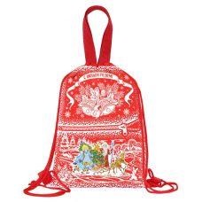 """Новогодняя упаковка 1800 г """"Рюкзак полиэстеровый красный"""""""