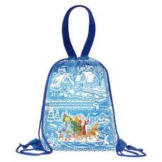"""Новогодняя упаковка 1800 г """"Рюкзак полиэстеровый синий"""""""