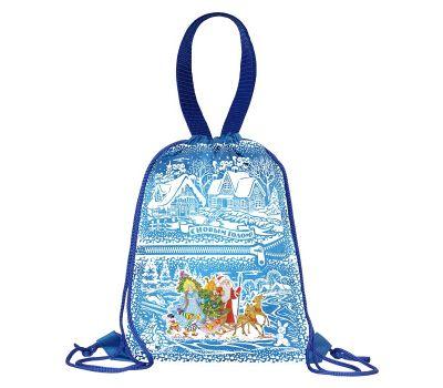 """Новогодний подарок 1500 г """"Рюкзак полиэстеровый синий"""""""