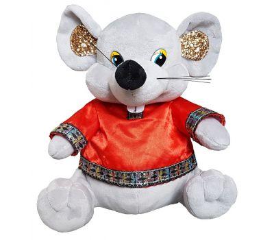"""Новогодняя упаковка - мягкая игрушка  500 г """"Мышонок в красной народной рубашке"""""""