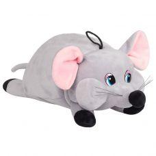 """Новогодняя упаковка - мягкая игрушка  800 г """"Мышка серая"""""""