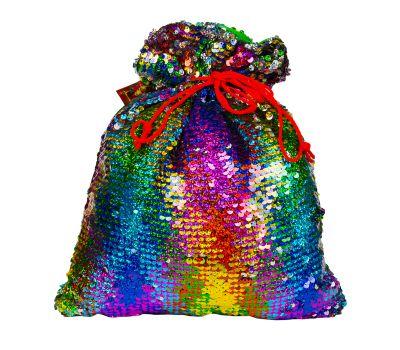 """Новогодний подарок 1200 г """"Мешочек блестящий разноцветный"""""""