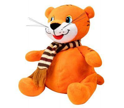 """Новогодняя упаковка  500 г """"Тигренок оранжевый с шарфом малый"""""""