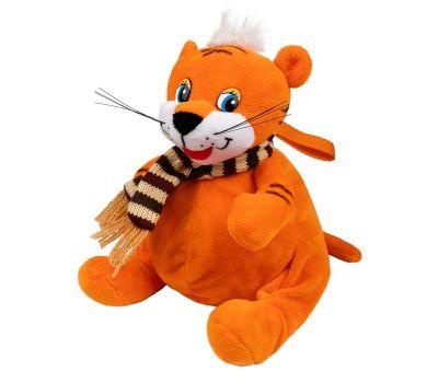"""Новогодний подарок  400 г """"Тигренок оранжевый с шарфом малый"""""""