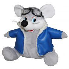 """Новогодняя упаковка - мягкая игрушка  700 г """"Мышь-пилот"""""""