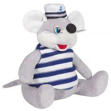 """Новогодняя упаковка - мягкая игрушка 1200 г """"Мышонок-моряк"""""""