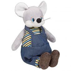 """Акция - Новогодняя упаковка - мягкая игрушка 1200 г """"Мышонок в синих штанах большой"""""""