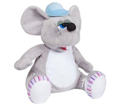 """Новогодняя упаковка - мягкая игрушка  700 г """"Мышь в кепке"""""""