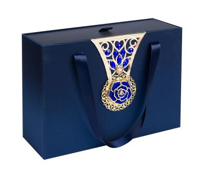 """Новогодний подарок 1500 г """"Декоративная подарочная коробка большая синяя"""""""