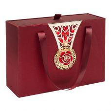 """Новогодний подарок 1500 г """"Декоративная подарочная коробка большая красная"""""""