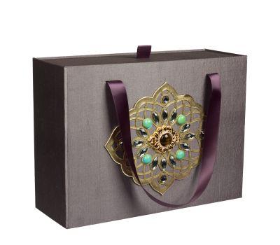 Подарочная коробка большая серая