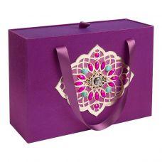 """Новогодний подарок 1500 г """"Декоративная подарочная коробка большая фиолетовая"""""""