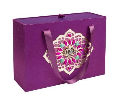 Подарочная коробка большая фиолетовая