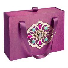 Подарочная декоративная коробка средняя фиолетовая