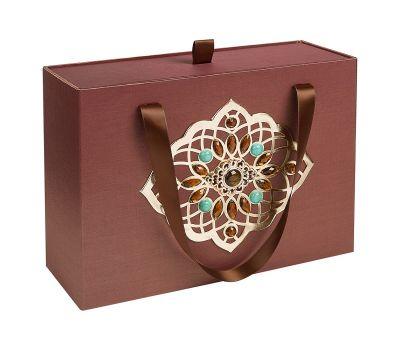 Подарочная коробка большая коричневая