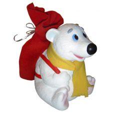 """Новогодний подарок в упаковке из ПВХ  850 г """"Медвежонок с рюкзаком"""""""