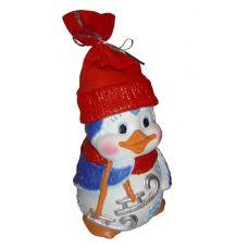"""Новогодняя упаковка из пластизоля """"Пингвин Пинчик"""""""