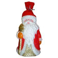 """Новогодняя упаковка из пластизоля """"Дед Мороз (красный флис)"""""""