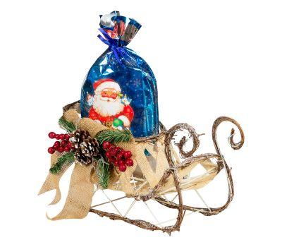 Новогодний подарок Сани декоративные