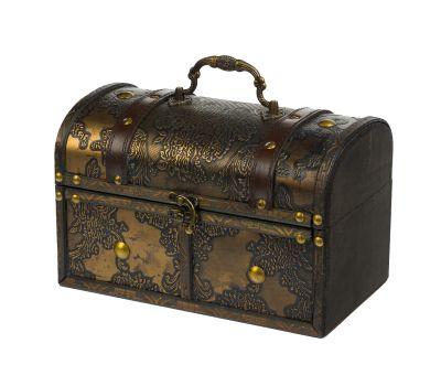 """Новогодняя упаковка 1560 г """"Сундучок деревянный большой"""""""