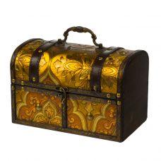 """Новогодний подарок 1500 г """"Сундучок золотистый большой"""""""
